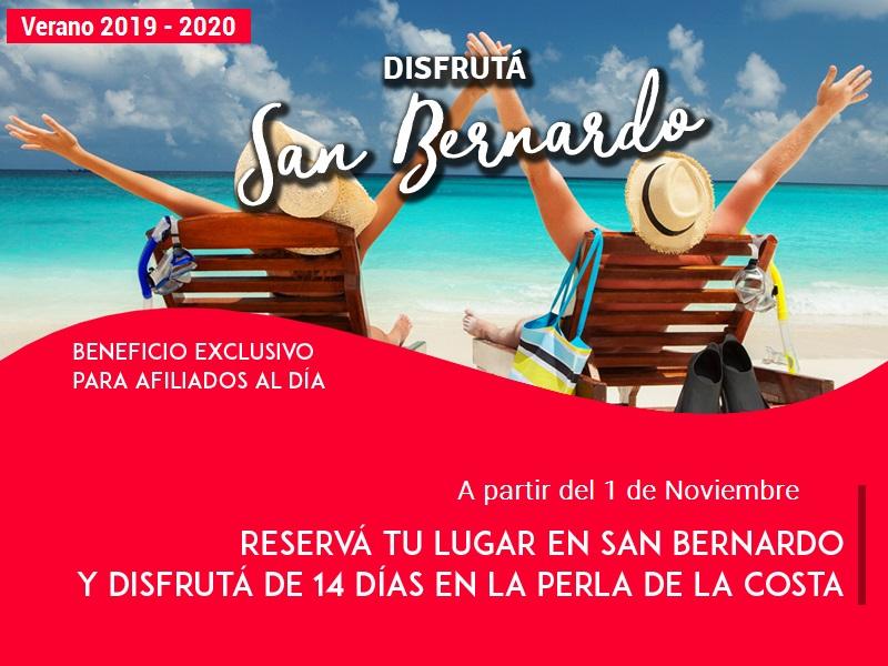 Verano 19/20: ¡Reservá tu lugar en San Bernardo!