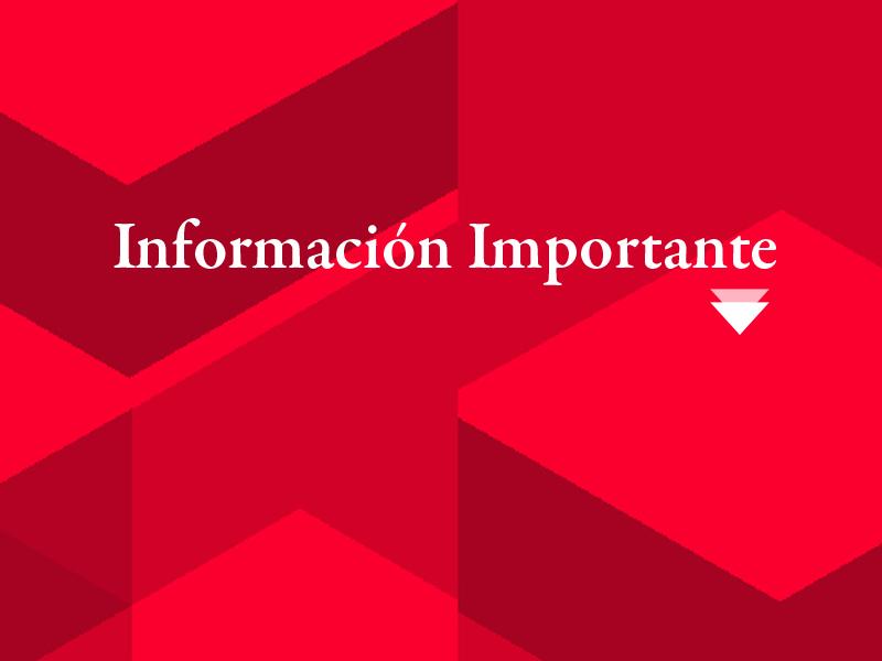 Importante! El Instituto permanecerá cerrado el día 5 de febrero por el Dia del Trabajador de UTEDYC